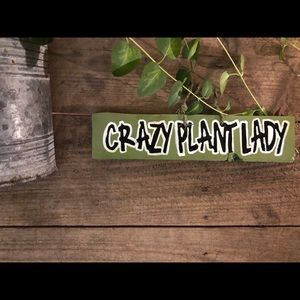 """Home Decor Wall Hanging Sign """"Crazy Plant Lady"""""""